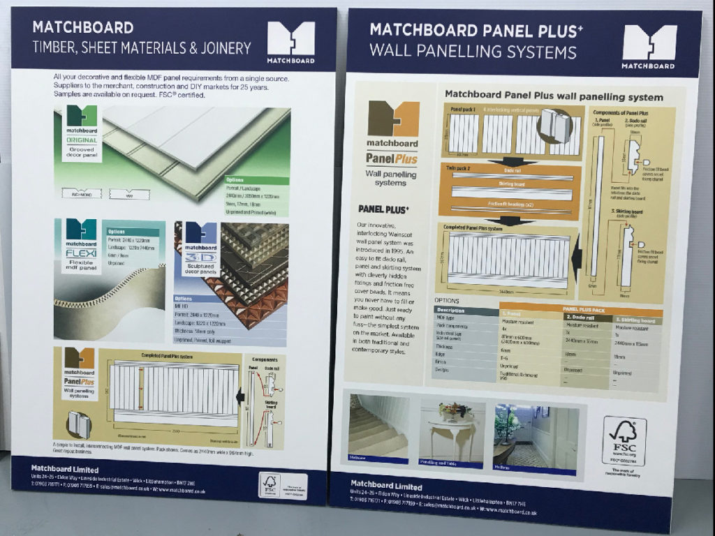 Matchboard foamex signs