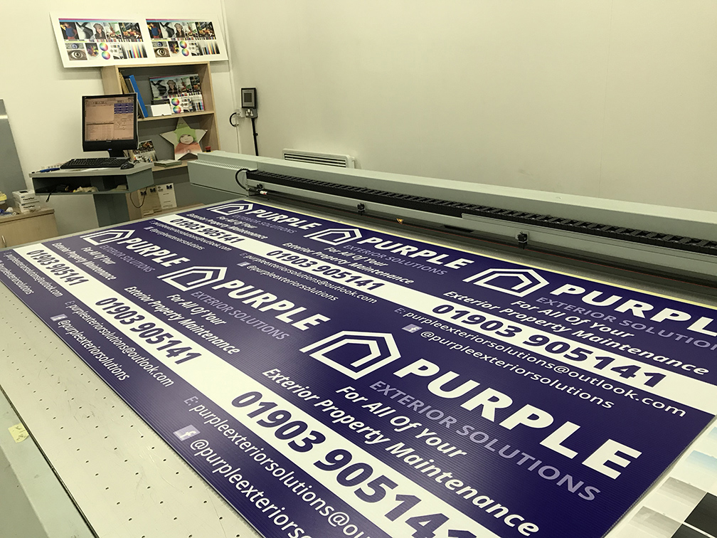 Site boards printing